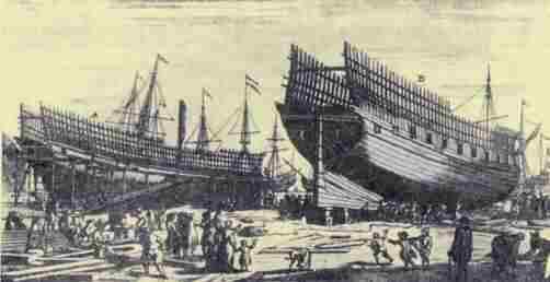 Боевые корабли с вырезанными